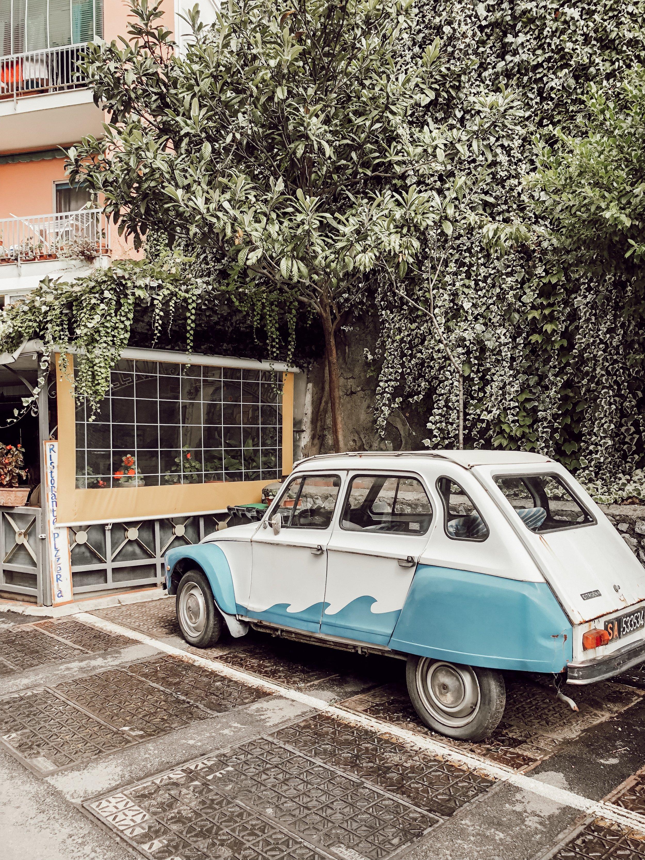 Street Car Amalfi Italy | Three Days on the Amalfi Coast, Amalfi Travel Guide, What to Do in Amalfi Italy | Miranda Schroeder Blog