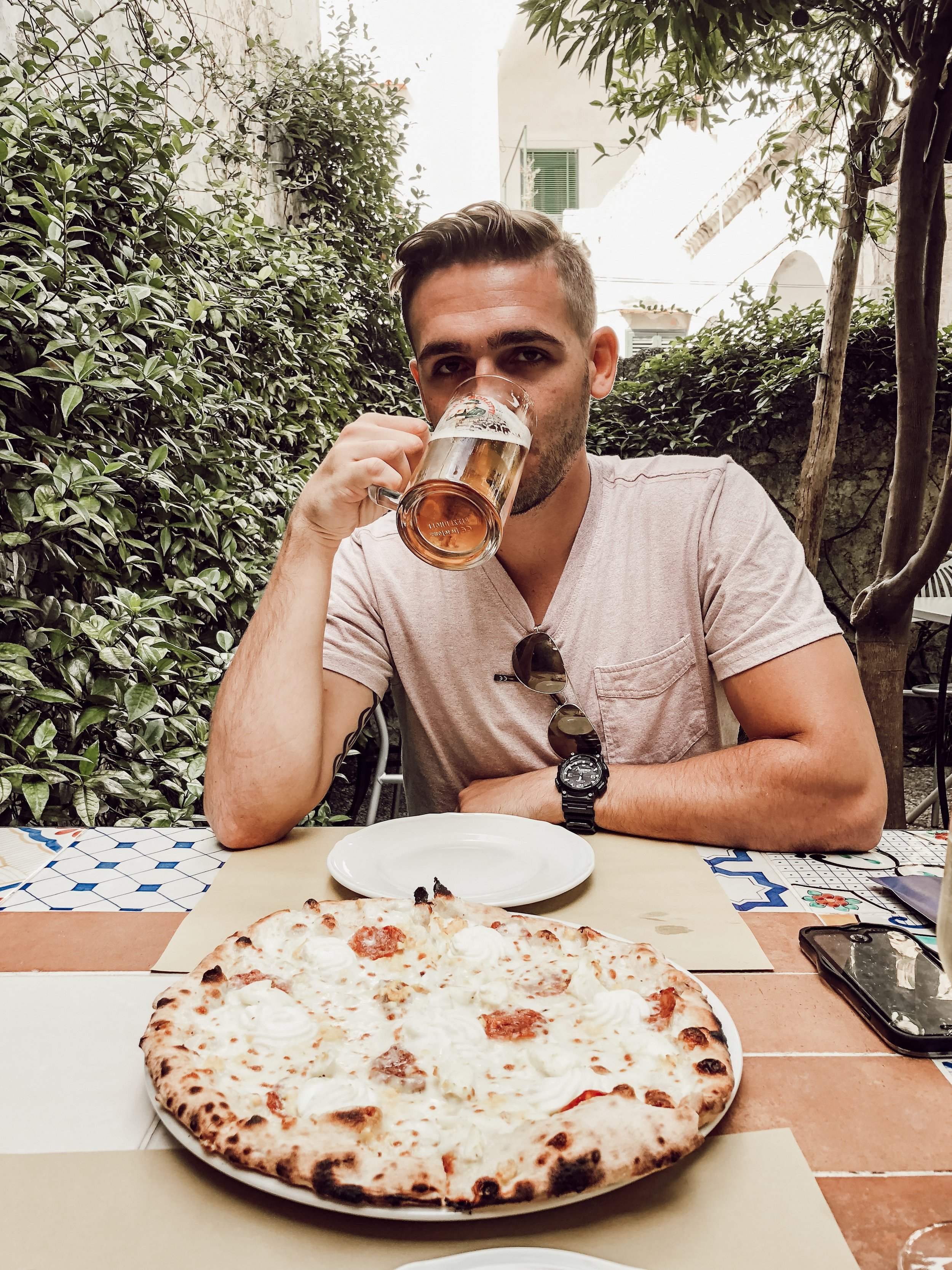 Donnastella Pizzeria and Lemon Garden Beer and Pizza | Three Days on the Amalfi Coast, Amalfi Travel Guide, What to Do in Amalfi Italy | Miranda Schroeder Blog
