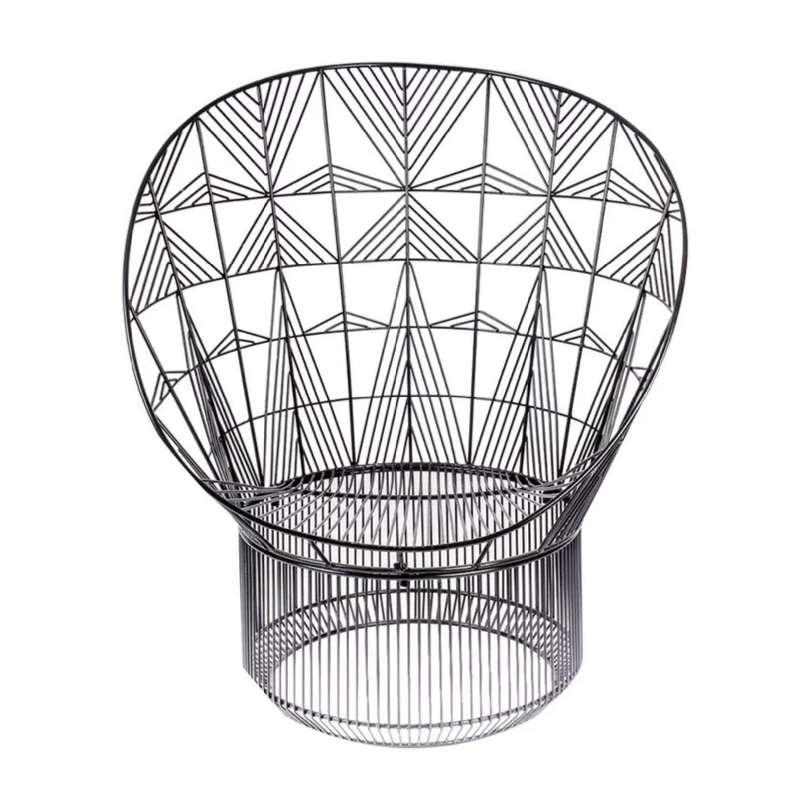 Black, Geometric Papasan Chair Accent Chair Roundup | Modern, Industrial, Rustic, Beach, Boho Accent and Arm Chairs | Miranda Schroeder Blog