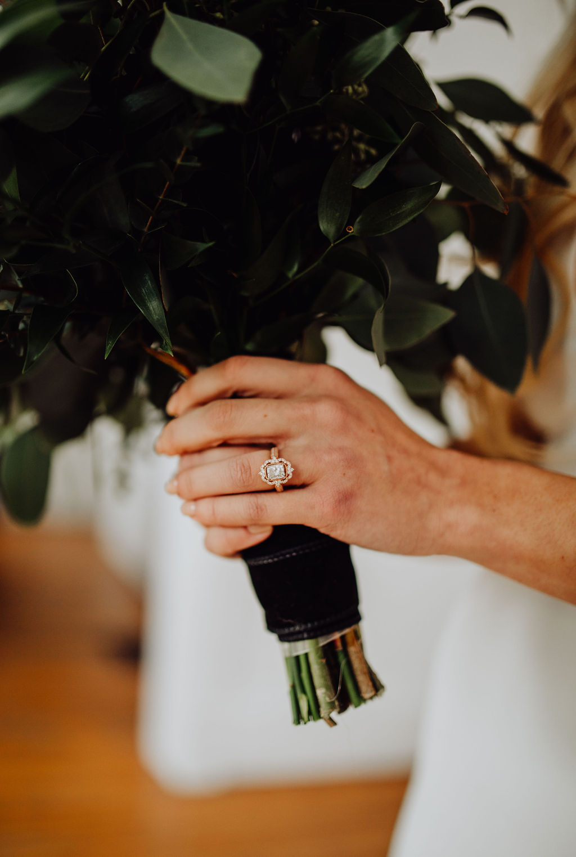 Our Intimate Courthouse Wedding | Vintage, Rose Gold Engagement Ring | Miranda Schroeder Blog | www.mirandaschroeder.com
