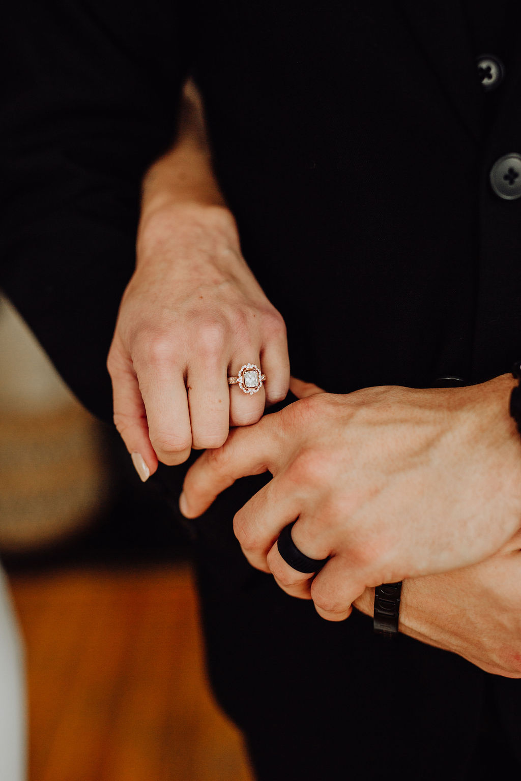 Our Intimate Courthouse Wedding | Vintage, Halo, Rose Gold Engagement Ring | Miranda Schroeder Blog | www.mirandaschroeder.com