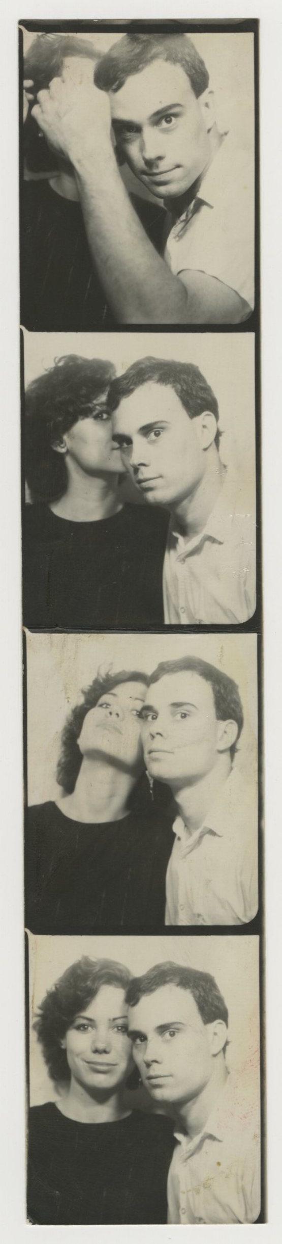 Photo booth strip: Ed Smith and Mary Emerzian, circa 1981