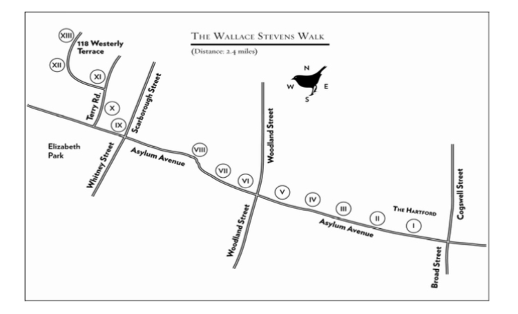 Map of The Wallace Stevens Walk