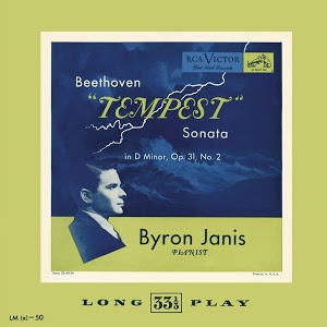 "Beethoven ""Tempest"" Sonata   Front:  Beethoven ""Tempest"" Sonata in D Minor, Op. 31, No.2  Byron Janis, Pianist  Back:  Beethoven Sonata in D Minor, Op. 31, No.2 (""Tempest"")  Byron Janis, Panist  Sonata No,17 for Piano in D Minor, Op.31 No.2""Tempest"":I Largo-             Allegro                                                7:45  Sonata No,17 for Piano in D Minor, Op.31 No.2""Tempest"": II Adagio  6:55  Sonata No,17 for Piano in D Minor, Op.31 No.2""Tempest"": III             Allegretto                                           4:45  Impromptus, D. 899 Op.90: Impromptu No. 2 in E-Flat Major,             Allegro                                                4:19  Recorded 1948  Total Play Time: 24:24"