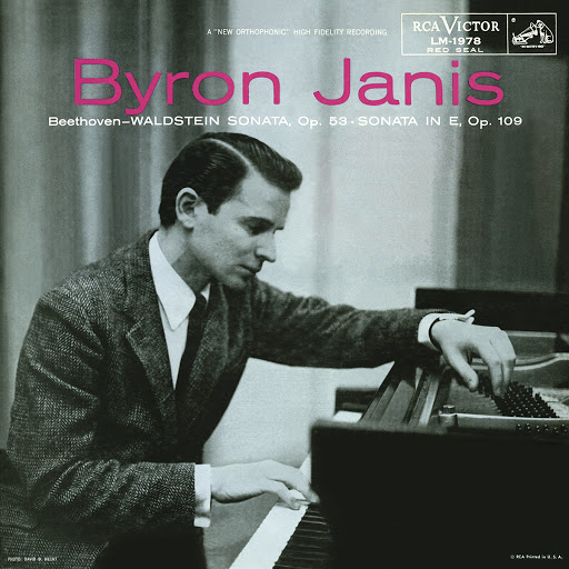"Byron Janis: Beethoven- Waldstein Sonata, Op. 53	Sonata in E, Op109   Back:  Beethoven Sonata No. 21, in C, Op. 53 (""Waldstein"")  Beethoven Sonata No. 30, in E, Op. 109  Byron Janis, Pianist  Piano Sonata No. 21 in C Major, Op. 53 ""Waldstein"": I Allegro con             brio                                                     7:56  Piano Sonata No. 21 in C Major, Op. 53 ""Waldstein"": II Adagio molto  3:15  Piano Sonata No. 21 in C Major, Op. 53 ""Waldstein"": III Rondo.             Allegretto moderato                         9:09  Sonata No. 30 in E Major for Piano, Op. 109: I Vivace, ma non troppo  3:32  Sonata No. 30 in E Major for Piano, Op. 109: II Prestissimo  2:27  Sonata No. 30 in E Major for Piano, Op. 109: Andante molto             cantabile ed espressivo                    12:14  Recorded 1953  Total Play Time: 39:32"