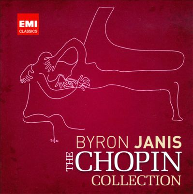 Byron Janis Plays Chopin   Front:  Waltzes, Nocturnes, & Mazurkas  Back:  Byron Janis Plays Chopin  Waltzes, Nocturnes, & Mazurkas  Mazurka in G minor, Op. 24, No.1  Nocturne in E flat major, Op. 55, No. 2  Mazurka in C major, Op. 56, No. 2  Mazurka in F minor, Op. 63, No. 2  Nocturne in B major, Op. 32, No. 1  Mazurka in A minor, Op. 67, No. 4  Waltz in A minor, Op. 34, No. 2  Nocturne in E major, Op. 62, No. 2  Mazurka in B flat minor, Op. 24, No. 4  Mazurka in C sharp minor, Op. 30, No. 4  Nocturne in C sharp minor, Op. 27, No. 1  Nocturne in F sharp major, Op. 15, No. 2  Waltz in A flat major, Op. 69, No. 1  Nocturne in D flat major, Op. 27, No. 2  Waltz in G flat major, Op. 70, No. 1  Inside Cover of Booklet:  Recorded at the American Academy of Arts & Letters, New York , New York, 8,11,12, &15 October 1995  Art direction: Robert Abriola  Art by: Maria Jannis  Photography: Carolyn Jones