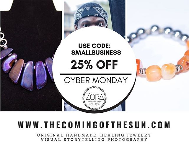 Hey y'all, I'm back 🦋 use code: SMALLBUSINESS . . #smallbusiness #healingcrystals #healingjewelry #supportsmallbusiness #cybermonday