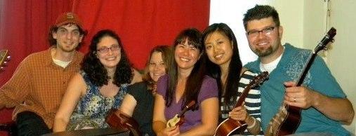 Music Therapists Ryan, Rose, Nicki, Kathy, Melody and Tim