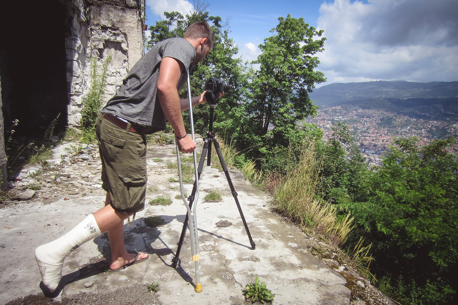 Camera Gear Crutch Tripod