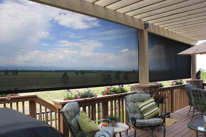 Patio Solar Screen Shades for UV Protection Near Kalispell, Montana (MT)