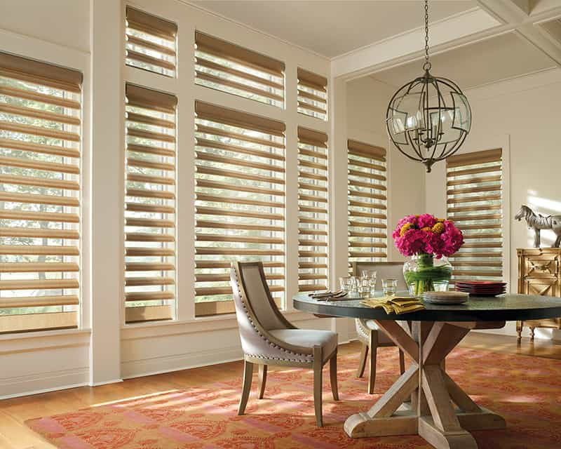 Hunter Douglas Window Treatments for Homes and Dining Rooms Near Kalispell, Montana (MT)