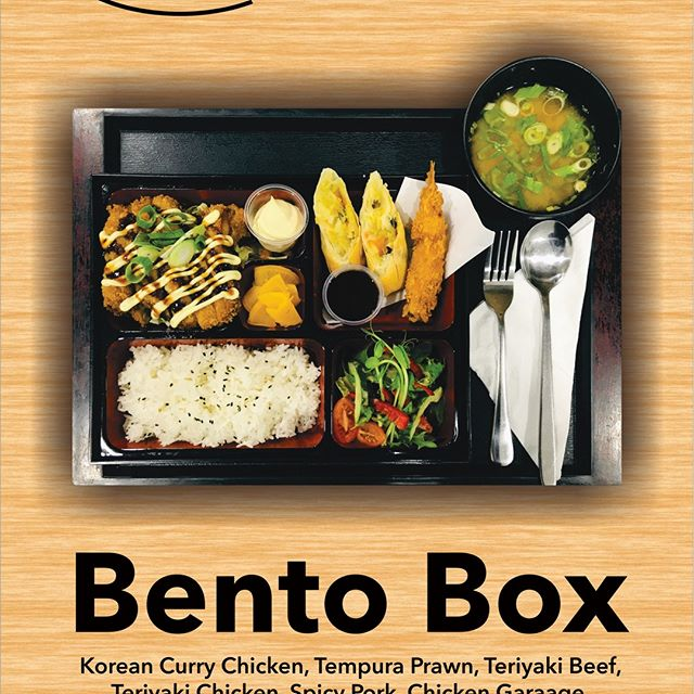 The perfect combo when you're on a roll - excuse the pun 😂  Grab yourself a lovely bento box from TASTE OF DALYELLUP. Chose from Korean Curry Chicken, Tempura Prawn, Teriyaki Beef, Teriyaki Chicken, Spicy Pork, Chicken Karaage, Crispy Chicken, Salt & Pepper Squid, Sashimi Mix.  Available for dine-in or Take away from $14.90 🍱