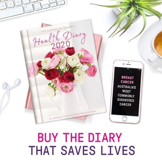 The Australian Women's Weekly Health Diary 2020 is now in stock at @DalyellupNewsandLotto.  Only $18.95 with proceeds to Breast Cancer Trial Research.  Get yours in-store today.