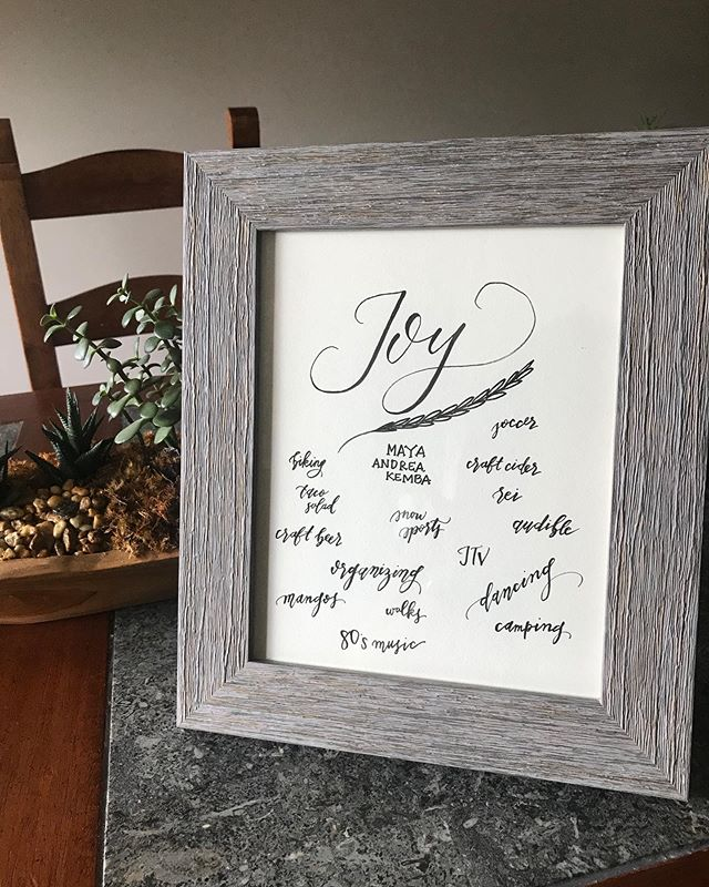 ✨A thoughtful friend asked me to make a gift for her friend.  Listed under 'JOY' were things she thought brought her friend happiness and light. What brings you joy? ✨