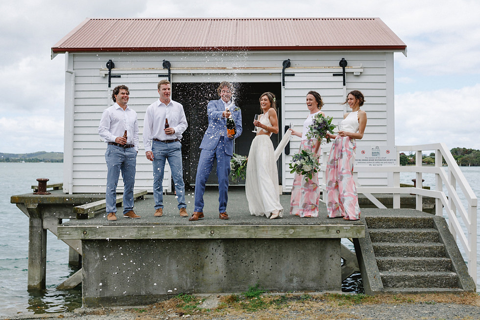 omaha wharf auckland wedding photos
