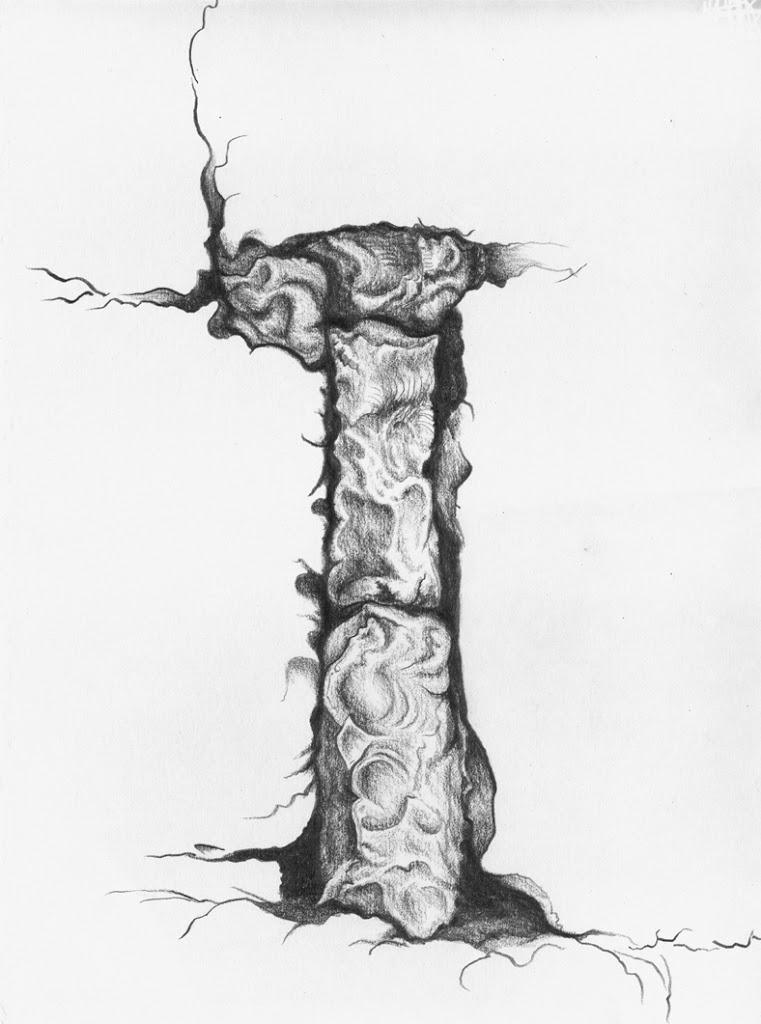 Caylus Stones II, graphite, Jeannine Cook artist