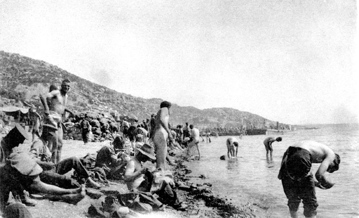 Anzac Soldiers on the Beach