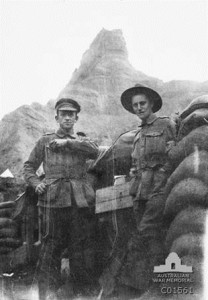 Two soldiers at Russell's Trop, 1915
