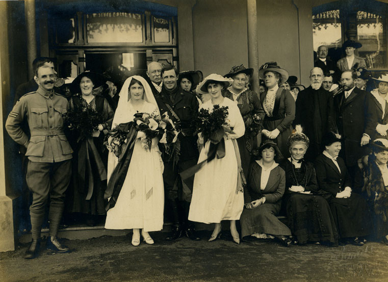 Newly-weds, Hillside, Albany, July 24th, 1917