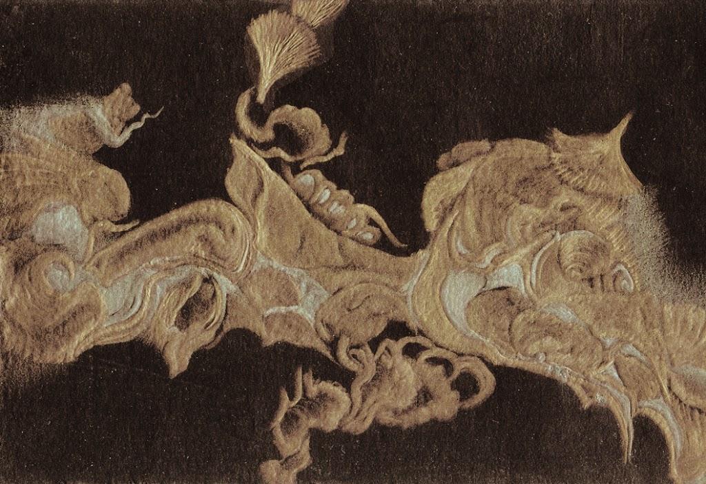 Le Chant des Pierres III: la Bourgogne Profonde ,gold-silverpoint, Jeannine Cook artist