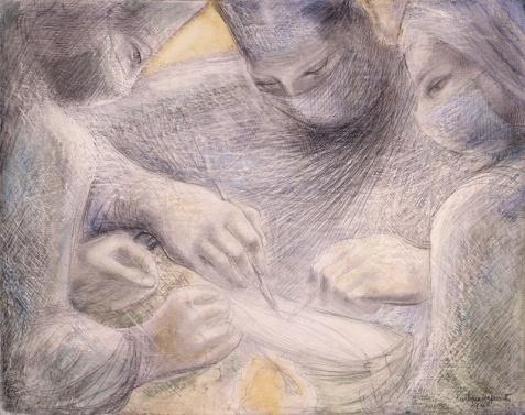 Concentration of Hands II, 1948, Barbara Hepworth, (Image courtesy of Bowness, Hepworth Estate)