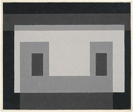 Grey Facade, oil on masonite, 1947-54, Josef Albers (image courtesy of the Josef and Anni Albers Foundation)