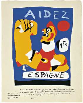 Help Spain,1937 poster, Miro (in exile in France) (image courtesy of Zervos Museum)