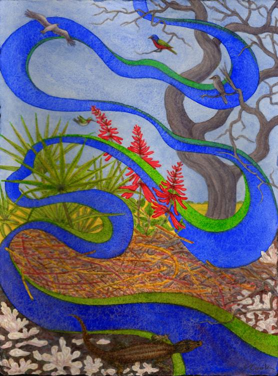 A Day at Julienton,watercolour, artist Jeannine Cook