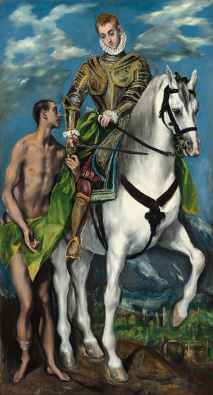 St. Martin and the Beggar, 1597-99, oil on canvas, El Greco, (Image courtesy of the Widener Collection, National Gallery, Washington)