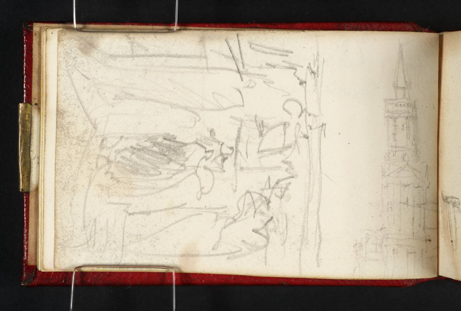Sketch of an Interior; Also, a Renaissance Church Tower, circa 1831, Joseph Mallord William Turner (Image courtesy of Tate Britain)