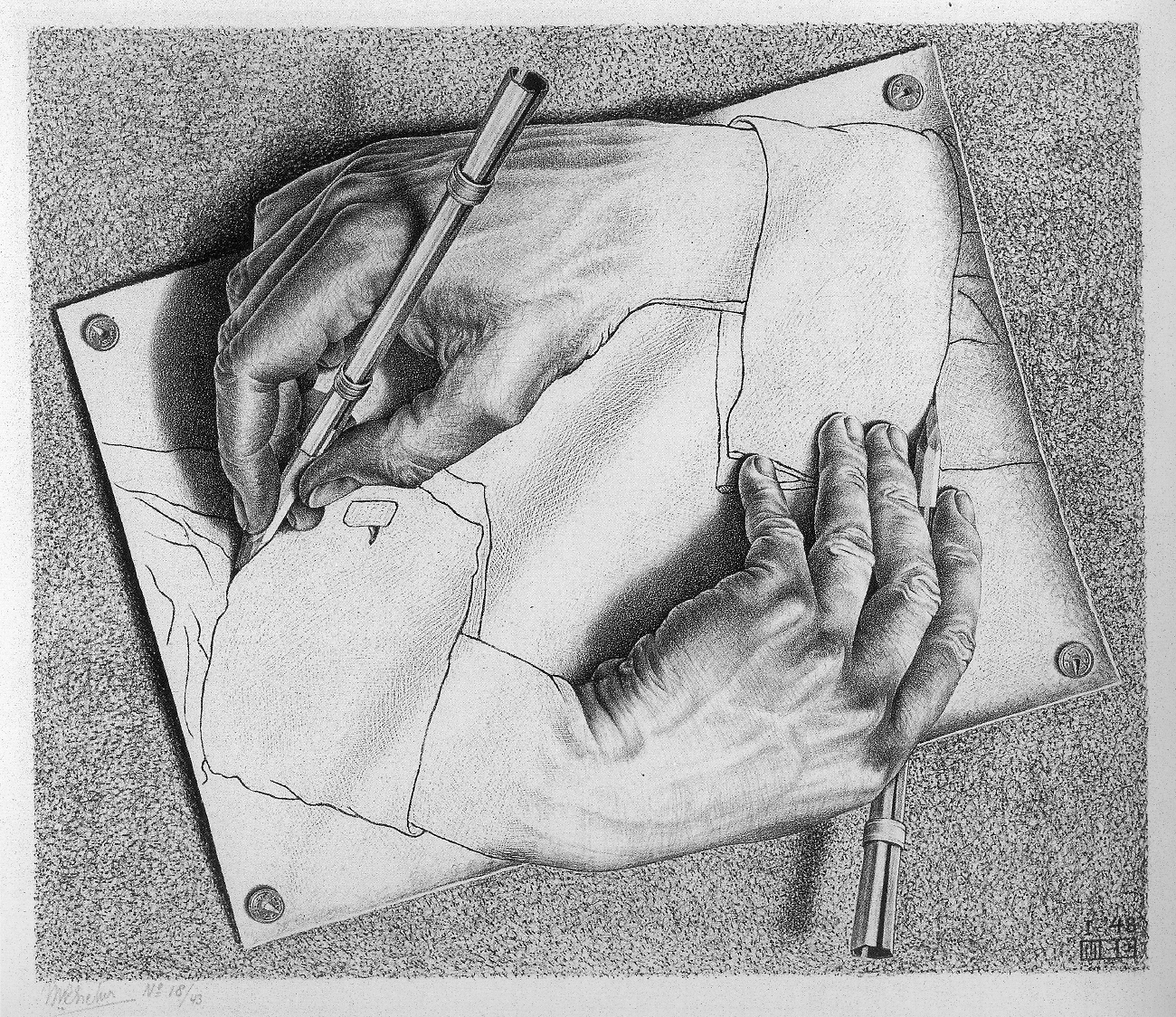 Drawing Hands, M. C. Escher (1948)