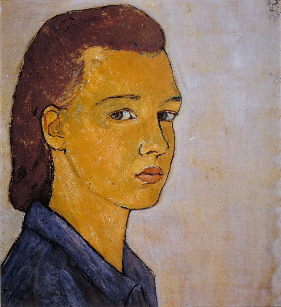 Self-Portrait, Charlotte Salomon, gouache, (image courtesy of the Charlotte Salomon Foundation, National Jewish Museum, Amsterdam)