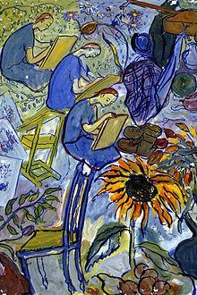 Life? or Theatre?, Charlotte Salomon, 1940-42, gouache,(Image courtesy of the Charlotte Salomon Foundation, Jewish Arts Museum, Amsterdam)