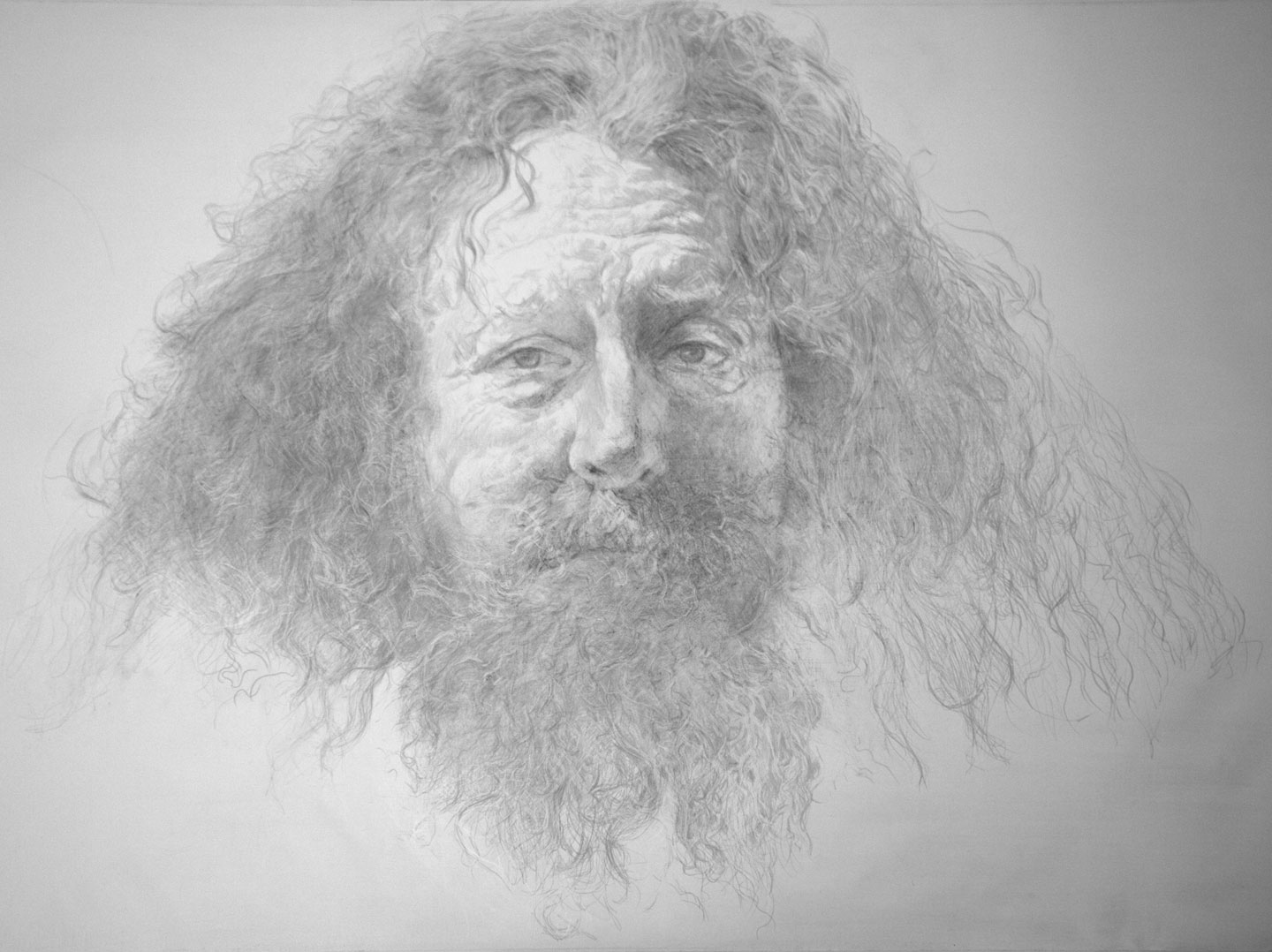Parshat-Veetchanan- Silverpoint Drawing, Sherry-Camhy