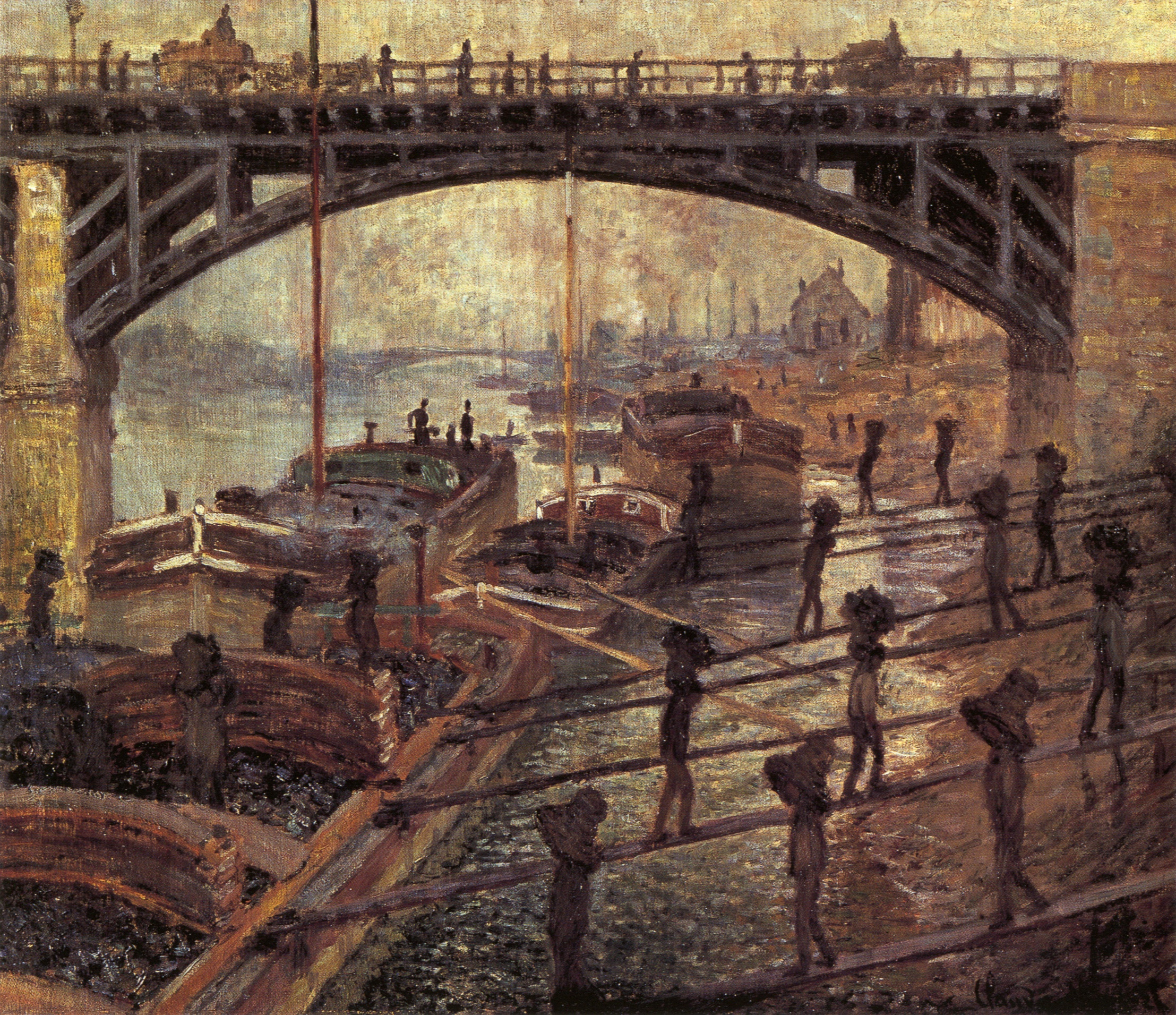 The Coal Carriers, oil on canvas. Claude Monet, c. 1875 (Image courtesy of the Musee d'Orsay, Paris)