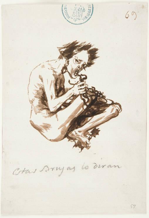 Estas Brujas lo diran, Francisco Goya, brush & brown ink, (image courtesy of Prado Museum, Madrid)