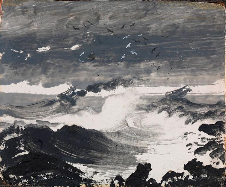 The Tempest, Peder Balke, 1862