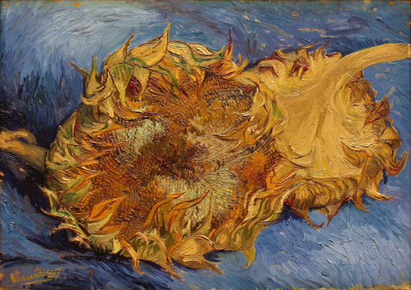 Two Cut Sunflowers, oil on canvas, 1887. Vincent Van Gogh (Image courtesy of the Metropolitan Museum, New York)