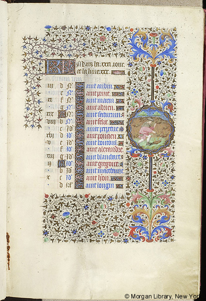 Book of Hours, Paris 1430-35 - March (Image courtesy of the Morgan Library, New York)