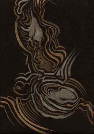 Live Oak Lingering, gold-silverpoint, artist Jeannine Cook