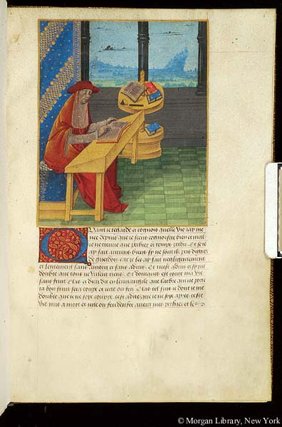 La diète de salut. France, Burgundy, c. 1490 (Image courtesy of the Morgani Library, New York)