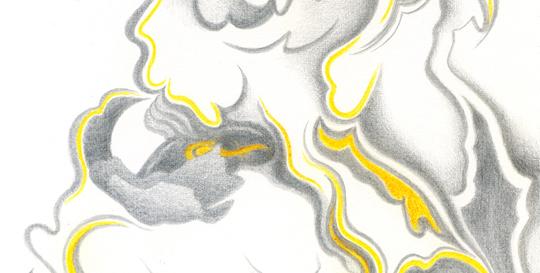 La Vieille Vigne, silverpoint, watercolour
