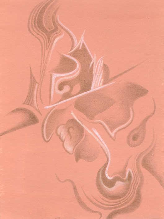 Oyster Dance, silverpoint, watercolour on red ocre-tinted ground, Jeannine Cook