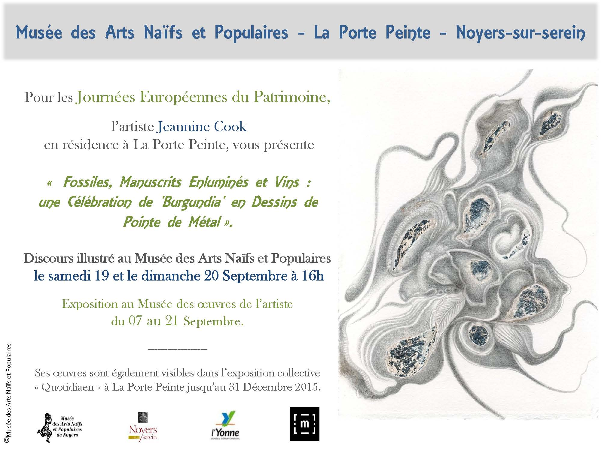 Poster for talk and exhibition at Noyers Museum