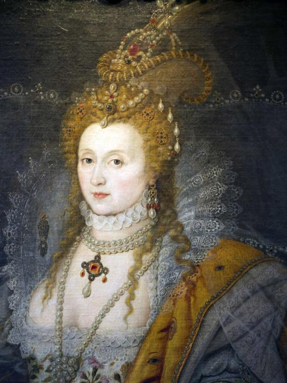 Queen Elizabeth I, attributed to Isaace Oliver, Hatfield House