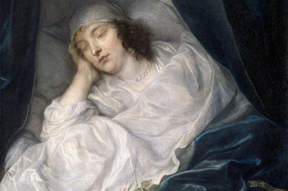 Venetia, Lady Digby, on her Deathbed by Van Dyck, 1633, Bridgeman Art Library