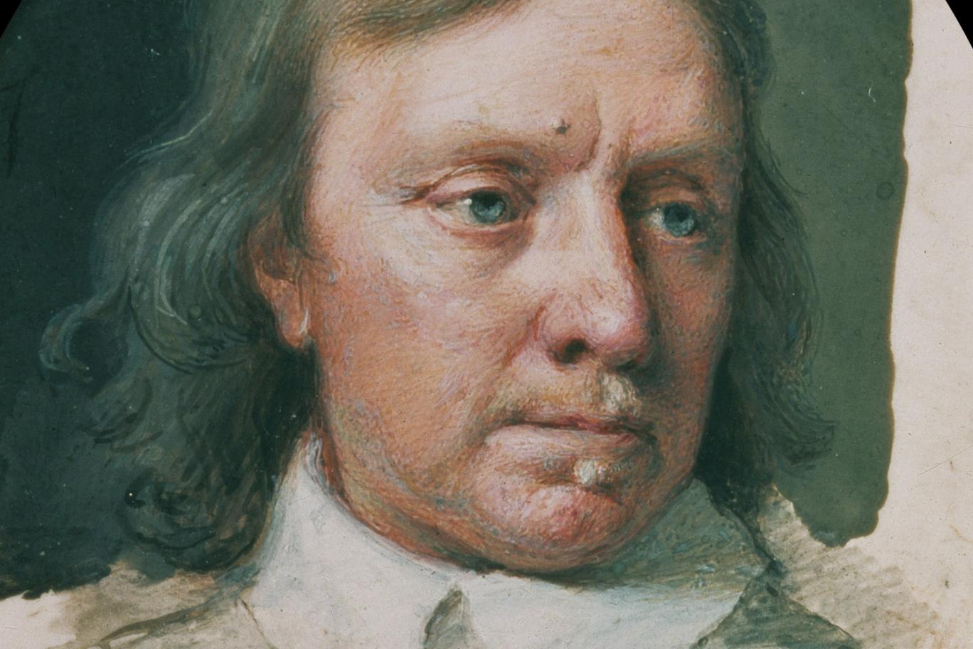 Miniature of Oliver Cromwell painted c. 1650 by Samuel Cooper. Image courtesy of Bridgeman Images