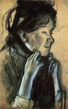 Young Woman tying the Ribbons of her Hat, Edgar Degas, image courtesy of the Louvre, Paris