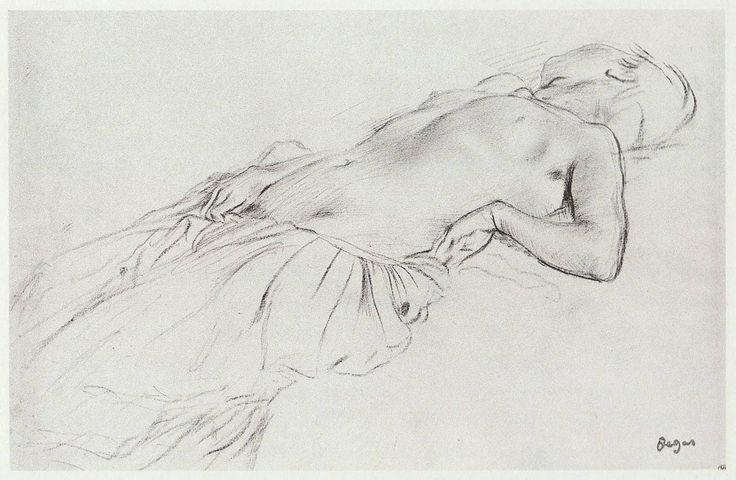 Nude study for Les malheurs de la Ville d'Orleans, Edgar Degas, image courtesy of the the Louvre, Paris