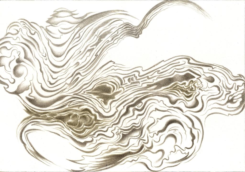 Grape Vine Seer, silverpoint-copperpoint, Jeannine Cook artist